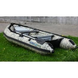 Надувная 6-ти местная ПВХ лодка KingFish HDS-380AL Digital Camo